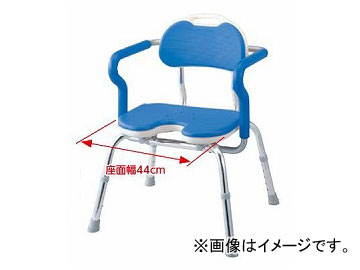アロン化成 安寿 ひじ掛け付シャワーベンチ RE-Uワイド ブルー 536-250 JAN:4970210438107