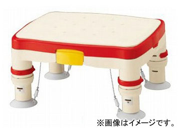 """アロン化成 安寿 高さ調節付浴槽台R """"かるぴったん"""" 標準 レッド 536-480 JAN:4970210470855"""