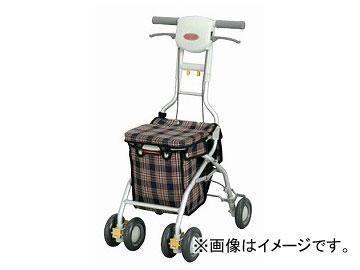 アロン化成 安寿 シルバーカー サンフィール(ショッピング) 青チェック 532-342 JAN:4970210458389