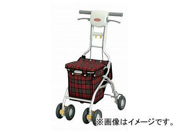 アロン化成 安寿 シルバーカー サンフィール(ショッピング) 赤チェック 532-347 JAN:4970210458396
