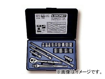 シグネット/SIGNET 3/8DR ソケットレンチセット(#812913B) 品番:12719 JAN:4545301002026