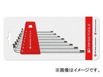 PB SWISS TOOLS ショートヘッドL型ヘクスローブレンチセット(台紙付) 品番:2411H6-25CN JAN:7610733236480