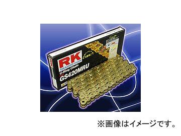 2輪 RK EXCEL レーシングチェーン スプリント/耐久レース兼用 GV ゴールド GS420MR-U 128L KX80L(ラージ)