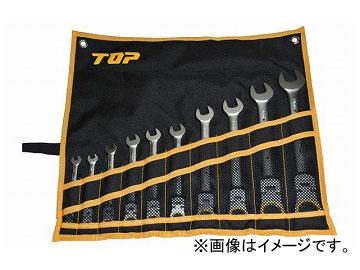 トップ工業/TOP 首振りラチェットコンビセット(工具袋入り10点セット) FRC-10000S JAN:4975180409812