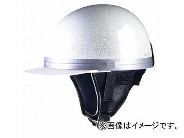 2輪 リード工業 HARVE コルクハーフヘルメット メタルホワイト フリーサイズ(57~60cm未満) HS-501