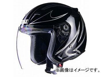 2輪 リード工業 STRAX ジェットヘルメット ブラック 選べる3サイズ SJ-9