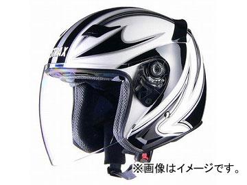 2輪 リード工業 STRAX ジェットヘルメット ホワイト 選べる3サイズ SJ-9