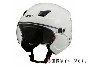 2輪 リード工業 X-AIR システムセミジェットヘルメット ホワイト フリーサイズ(57~60cm未満) SOLDAD