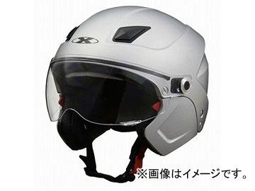 2輪 リード工業 X-AIR システムセミジェットヘルメット マットシルバー フリーサイズ(57~60cm未満) SOLDAD