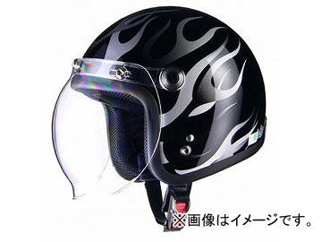 2輪 リード工業 BARTON ジェットヘルメット ブラックフレア フリーサイズ(57~60cm未満) BC-10