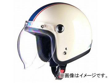 2輪 リード工業 BARTON ジェットヘルメット アイボリー×ネイビー フリーサイズ(57~60cm未満) BC-10