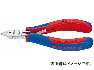 クニペックス/KNIPEX 超硬刃エレクトロニクスニッパー 品番:7732-120H JAN:4003773075790