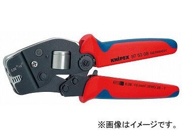 クニペックス/KNIPEX 品番:9753-08 JAN:4003773040484 ワイヤーエンドスリーブ圧着ペンチ