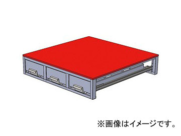 ジェフコム/JEFCOM バンキャビネット(3列引き出し) SCT-F01 JAN:4937897075001