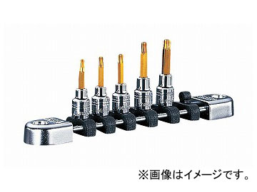 KTC (6.3SQ)ネプロス・T型トルクスビットセット NTQ4T05A JAN:4989433127408