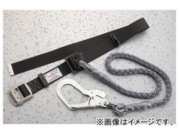 トーヨーセフティー/TOYO SAFETY 1本つり専用 回転式フック付き安全帯 八ツ打ちナイロン16mm径ロープ No.AGH-16RC 黒 JAN:4962087403616