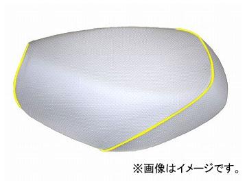 2輪 グロンドマン 国産シートカバー エンボスホワイト/黄色パイピング(被せ) 品番:GR214HC280P100 JAN:4562492981428 ホンダ PCX125(JF56)