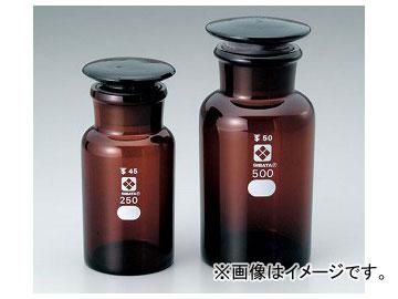 アズワン/AS ONE 共通摺合わせ広口試薬瓶 茶褐色/1000ml 品番:4-5032-06