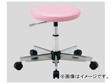 アズワン/AS ONE クリーンカラフルラウンドチェア(クラス100対応) ピンク LRC-P 品番:2-671-02 JAN:4571110730898