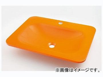 カクダイ 角型洗面器 ゴールデンオレンジ 品番:#MR-493220Y JAN:4972353045228