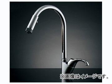 カクダイ シングルレバー混合栓(シャワーつき) 品番:117-121K JAN:4972353030026