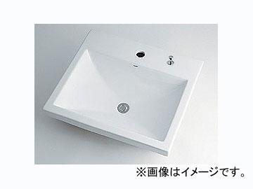 カクダイ 角型洗面器 1ホール・ポップアップ独立つまみタイプ 品番:493-003H JAN:4972353003174