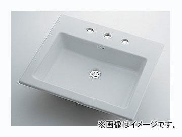 カクダイ 角型洗面器 3ホール 品番:493-009 JAN:4972353003204