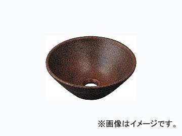 カクダイ 丸型手洗器 窯肌 品番:493-011-M JAN:4972353493265