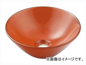 カクダイ 丸型手洗器 鉄赤 品番:493-011-R JAN:4972353030651