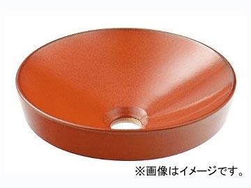 カクダイ 丸型手洗器 鉄赤 品番:493-012-R JAN:4972353030668