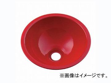 カクダイ 丸型手洗器 レッド 品番:493-026-R JAN:4972353003242