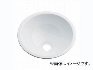 カクダイ 丸型手洗器 ホワイト 品番:493-026-W JAN:4972353003259