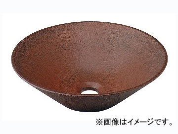 カクダイ 丸型手洗器 窯肌 品番:493-037-M JAN:4972353013722