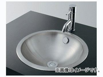 カクダイ ステンレス丸型洗面器 ヘアライン 品番:493-042 JAN:4972353493074