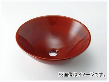 カクダイ 丸型手洗器 飴 品番:493-046-BR JAN:4972353030736