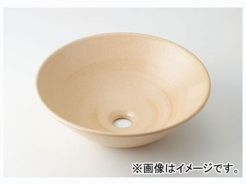 カクダイ 丸型手洗器 亜麻 品番:493-046-CR JAN:4972353030743