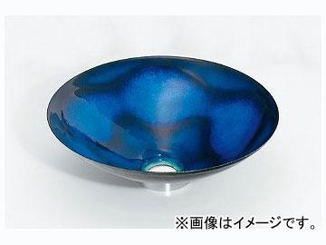 カクダイ 丸型手洗器 紺透 品番:493-047-B JAN:4972353030767