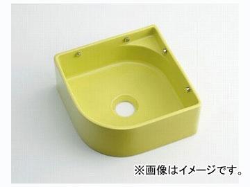 カクダイ 壁掛手洗器 イエローグリーン 品番:493-048-YG JAN:4972353030842