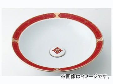 カクダイ 丸型洗面器 ルビー 品番:493-055-R JAN:4972353030859