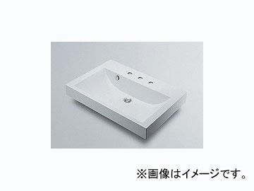 カクダイ 角型洗面器 3ホール 品番:493-071-750 JAN:4972353493586