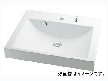 カクダイ 角型洗面器 ポップアップ独立つまみタイプ 品番:493-072H JAN:4972353030941