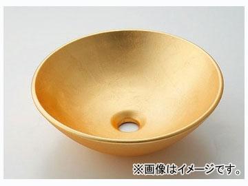 カクダイ 丸型手洗器 山吹 品番:493-095-G JAN:4972353046331