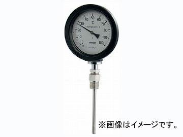 カクダイ バイメタル製温度計(防水・ストレート型) 品番:649-913-100B JAN:4972353038916