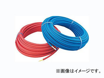 カクダイ 保温材つき架橋ポリエチレン管(赤) 20A 品番:672-118-50R JAN:4972353058785