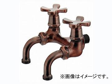 カクダイ ガーデン用双口ホーム水栓(ブロンズ) 品番:705-104-13 JAN:4972353032518
