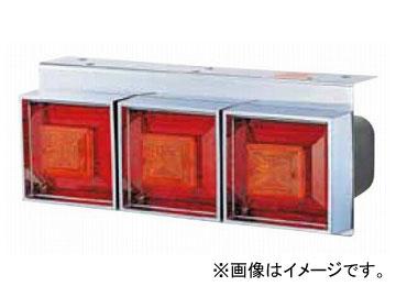 ジェットイノウエ 角型3連フラッシュテールランプ( リレー付) 小型(170×430×奥行150mm) 定格:12V 525811 入数:R/Lセット