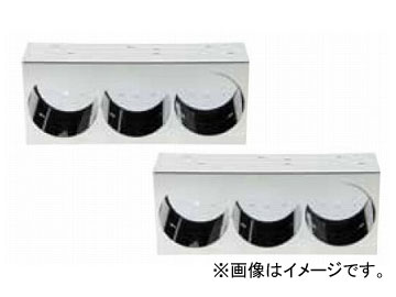 ジェットイノウエ 3連ステンレスケース 140×340×奥行80mm/ひっこみタイプ 525696 入数:R/Lセット
