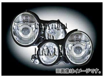 エムイーコーポレーション ZONE ツインキセノンヘッドライト W211-ルック ツイン タイプ-2 品番:232397 メルセデス・ベンツ W210 ~1999年