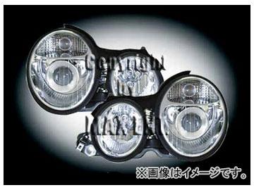 エムイーコーポレーション ZONE ツインキセノンヘッドライト W211-ルック タイプ-2 品番:233185 メルセデス・ベンツ W210 2000年~