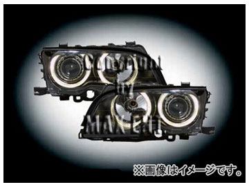 エムイーコーポレーション ZONE ハロゲンヘッドライト/4-クリスタルホワイトリングライト付 タイプ-1 品番:231590 BMW E46 クーペ ~2001年